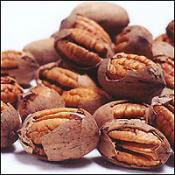 Pecan nuts cracked