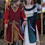 Couple at annual Renaissance Faire in Alabama
