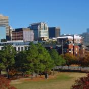 Skyline of Columbia, capital city of South Carolina