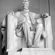 Abraham Lincoln statue in the Lincoln Memorial, Washington D.C.