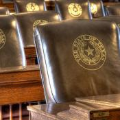 Texas seal on House seats