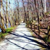 Trail by the River, Mounds State Park, Indiana