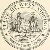 1894 image of West Virginia's seal