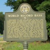 World record largemouth bass historical marker