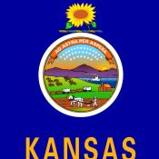 Center design on Kansas state flag