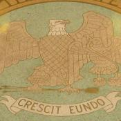Close-up of New Mexico's great seal on Capitol building floor