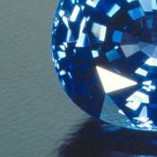 Cut and polished sapphire