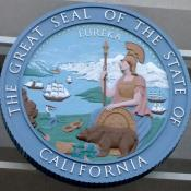 Representation of the great seal of California