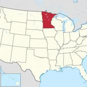 Map of Minnesota USA