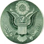 Obverse of Great Seal on dollar bill