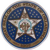 Oklahoma seal window decal