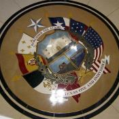 Reverse of state seal at the Texas State Capitol in Austin TX