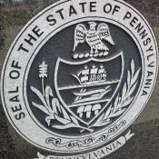 Representation of Pennsylvania's state seal in Pine Creek, PA