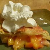 Slice of peach pie - the state desert of Delaware