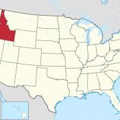 State of Idaho, USA map