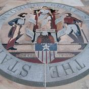 Great seal of Wyoming at the capitol in Cheyenne, Wyoming