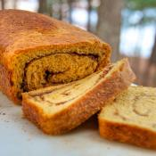 Cinnamon Swirl Sweet Potato Bread