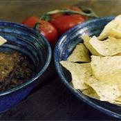 Tortilla chips & black bean salsa