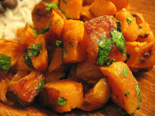 Lime-cilantro sweet potatoes; photo by Madeleine (tiny banquet ...