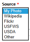 Select the image source from drop-down list
