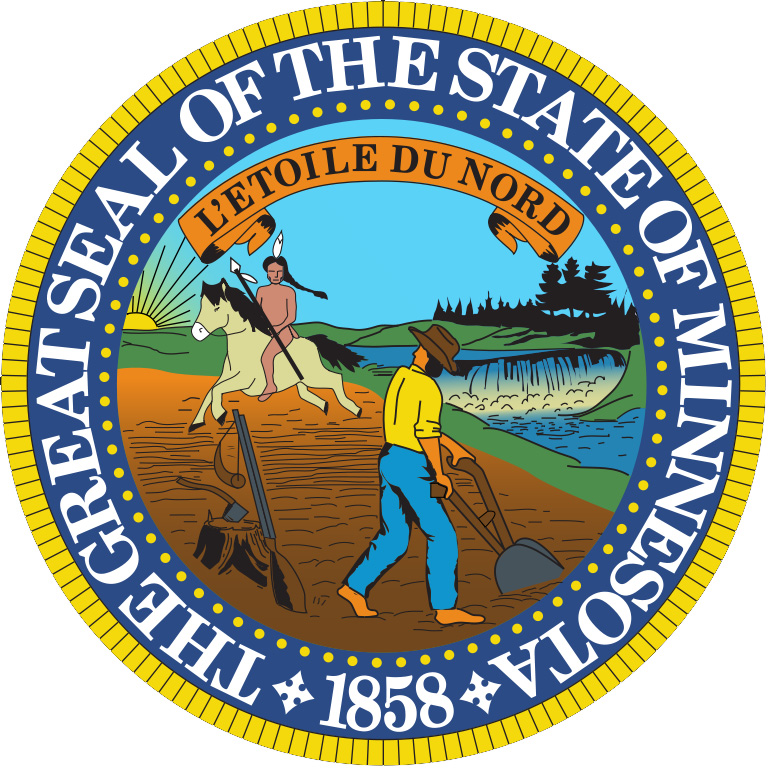 colorized version of minnesota seal