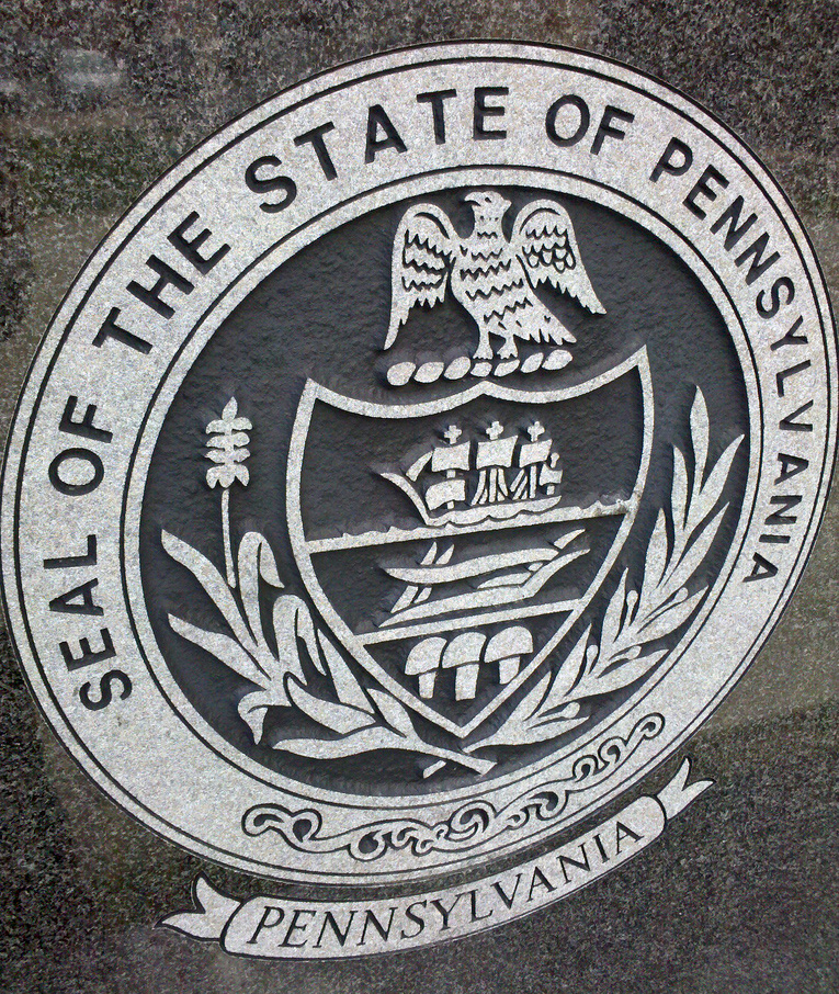 representation of pennsylvanias state seal in pine creek pa