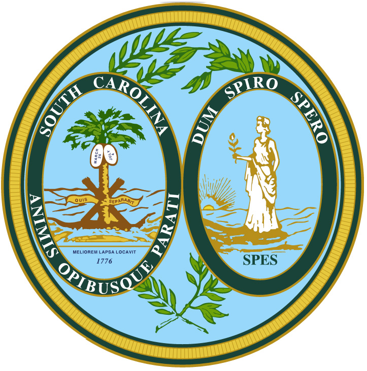 Image result for state seal of SC
