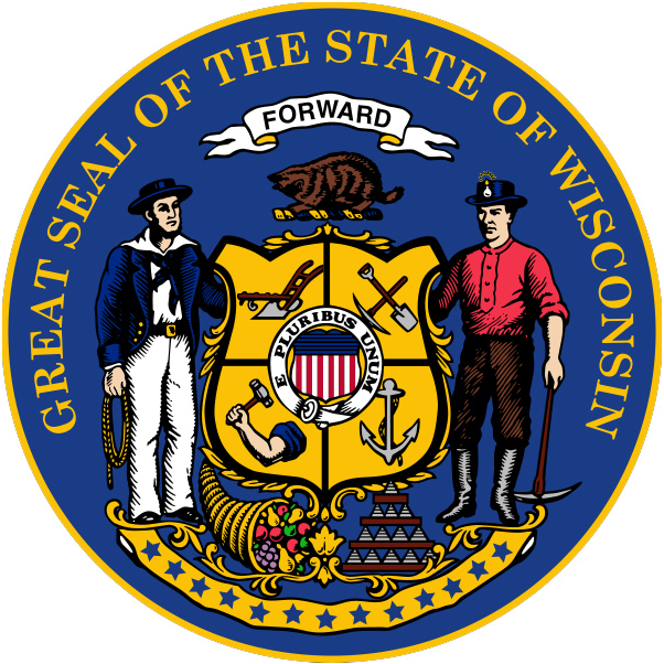 Image result for state seal of WI