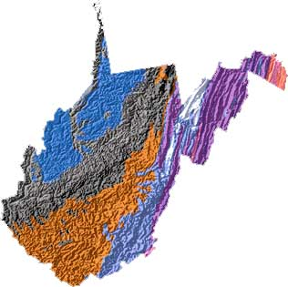 The Mountain State State Symbols USA - West virginia on a map of the us